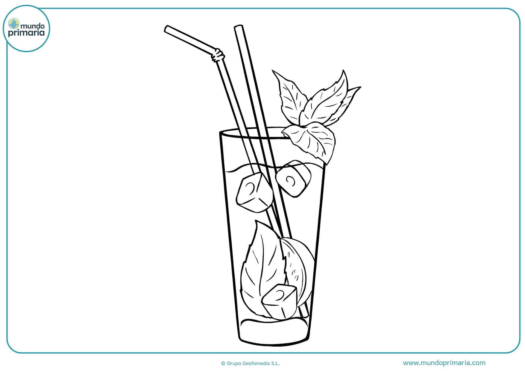 Pintar dibujos bebidas