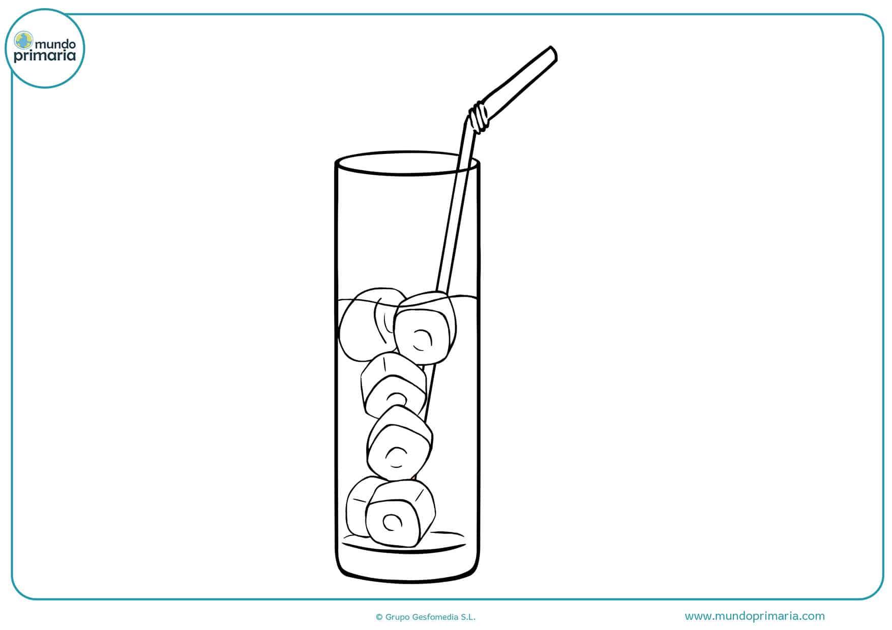 Dibujos para pintar bebidas
