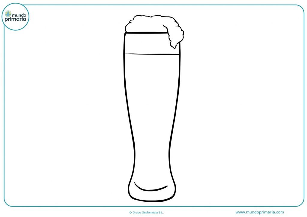 Dibujo de un vaso de cerveza