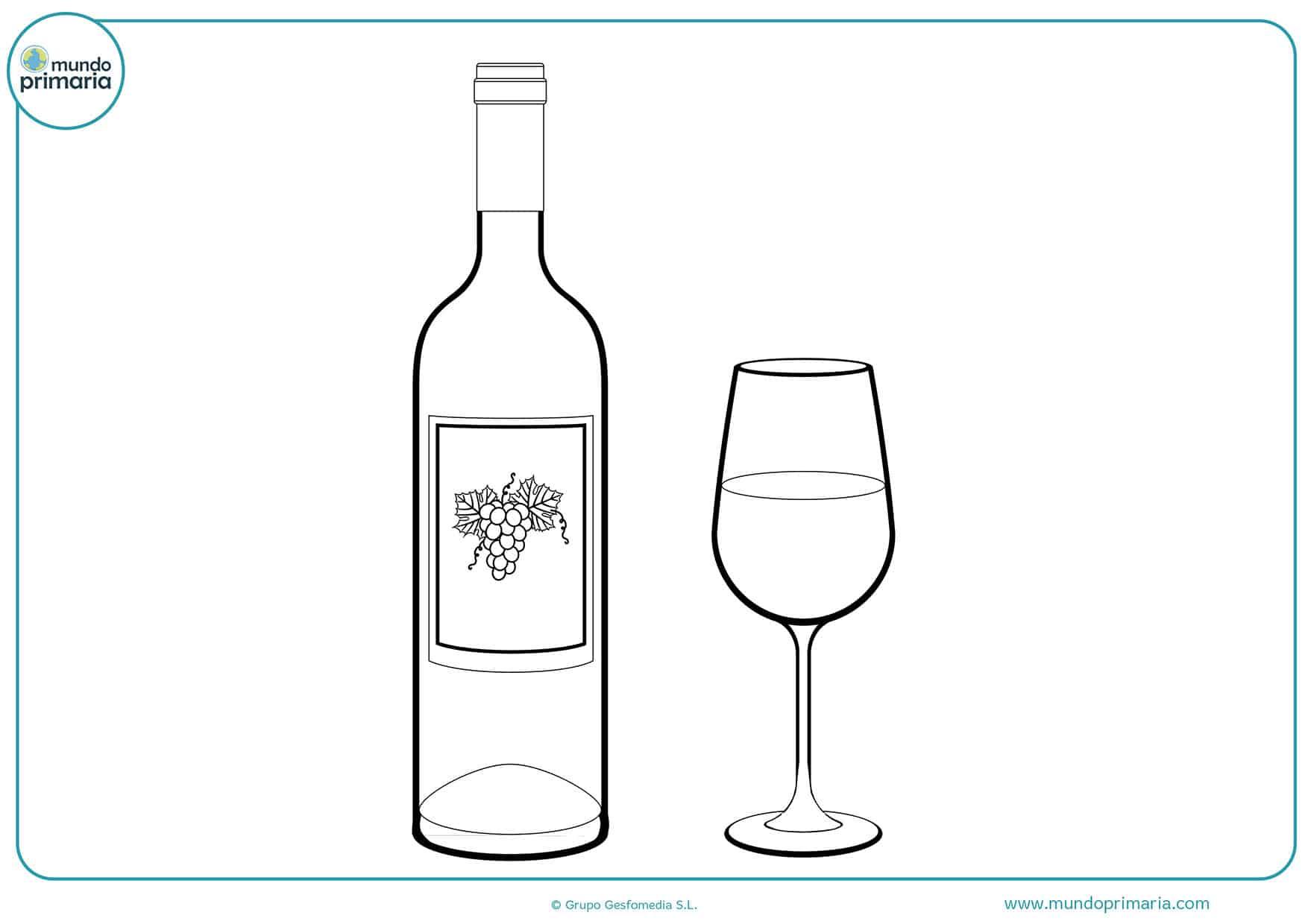 Dibujos fáciles colorear bebidas