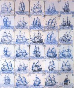 Azulejos cerámica Delft - 1650 - 1660 -La joven de la perla