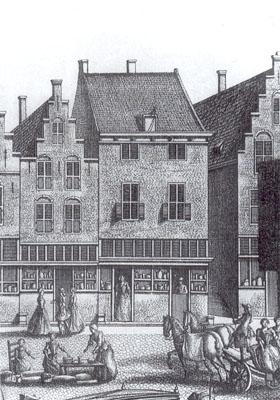 Casa Vermeer Delft - Mechelen - La joven de la perla - Grabado 1730