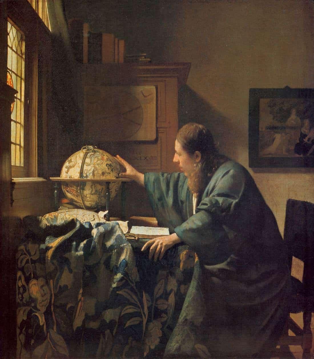 El astrónomo - Vermeer - 1668 - La joven de la perla