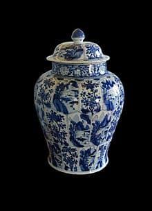 Jarrón del siglo XVII fabricado en Delft - La joven de la perla