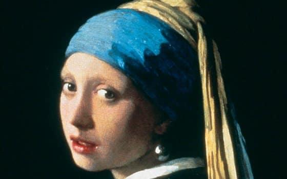 La joven de la perla -Vermeer - Detalle