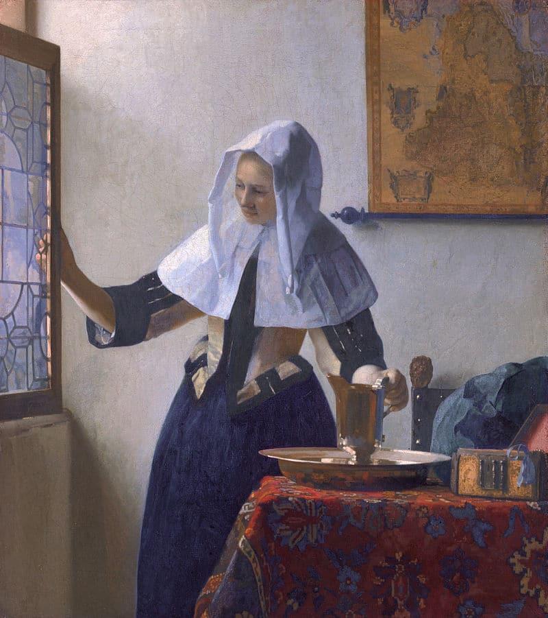 Mujer con aguamanil - Vermeer - La joven de la perla