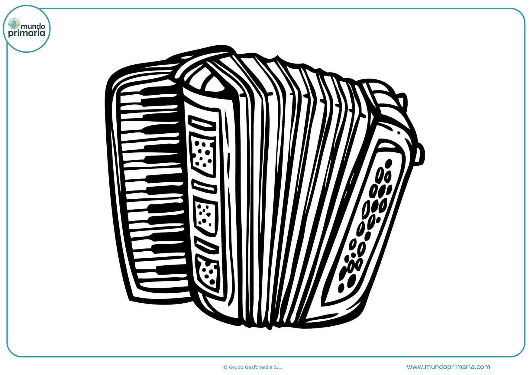 Dibujos para pintar instrumentos musicales
