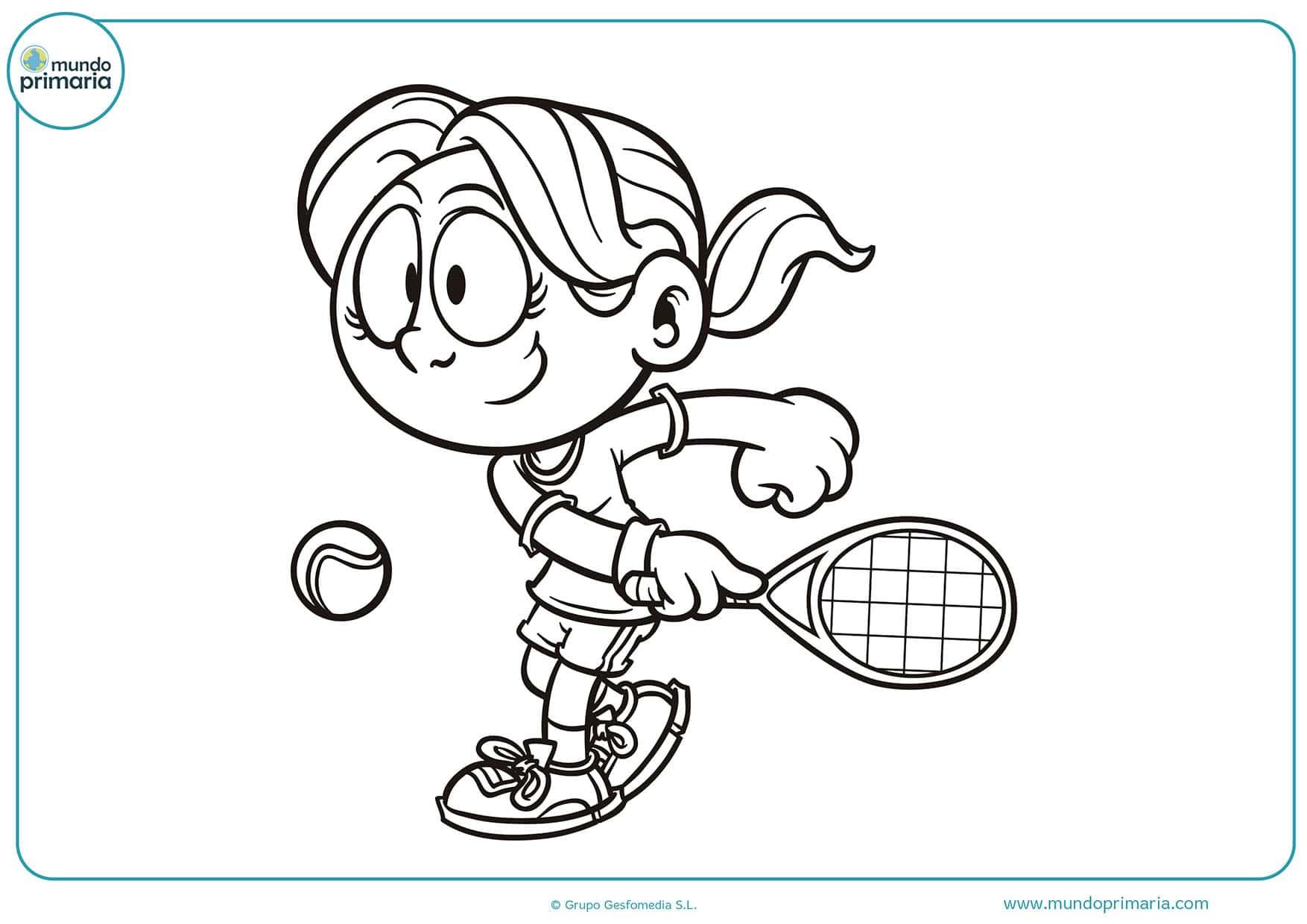 Dibujos para colorear tenis