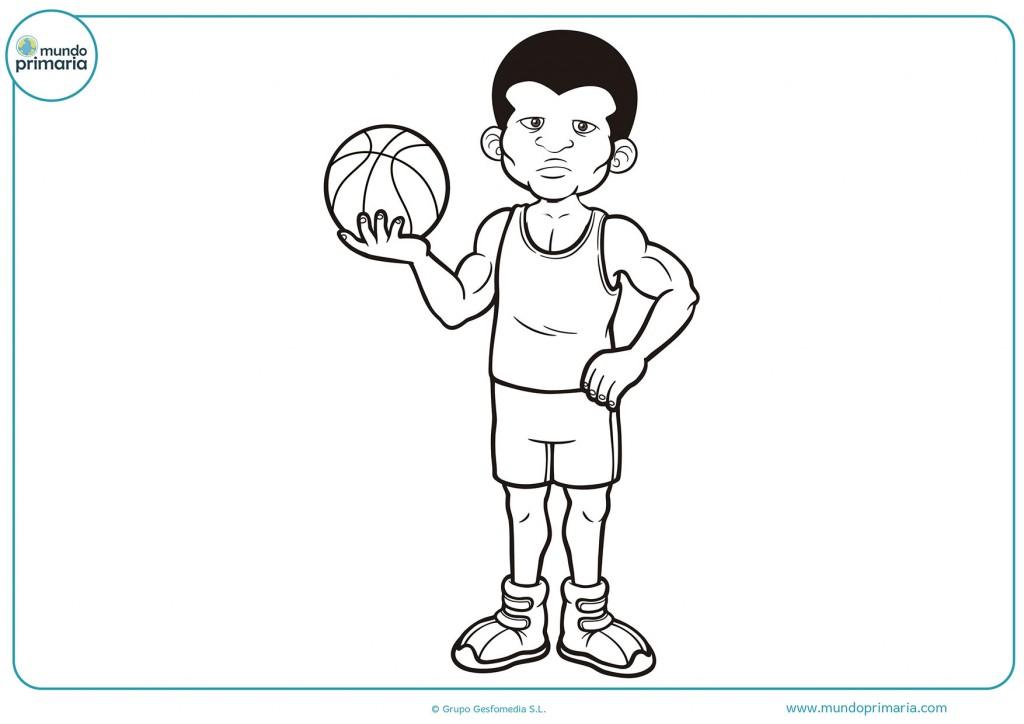 Dibujo de un jugador de baloncesto para colorear