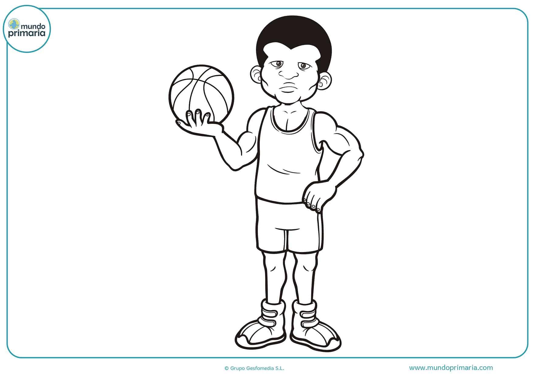 Dibujos para colorear baloncesto