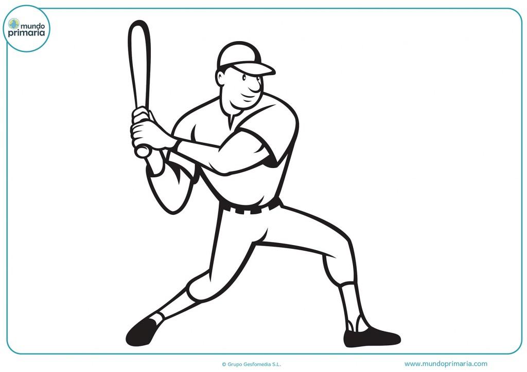 Dibujo de un jugador de béisbol para colorear