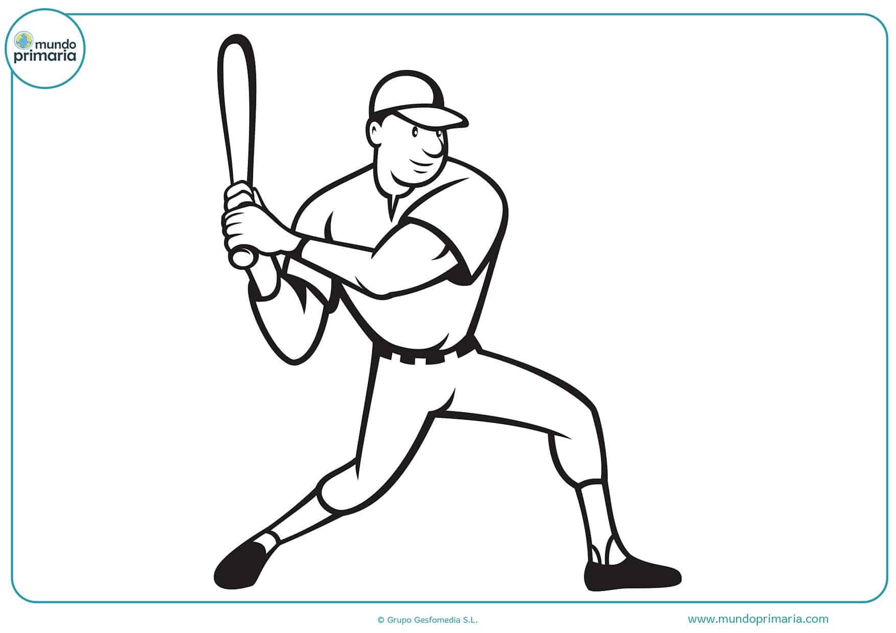Dibujos para colorear beisbol
