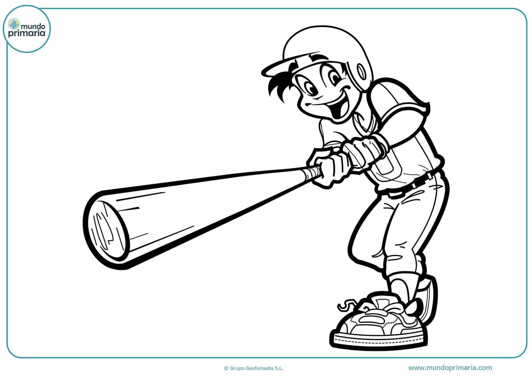 Dibujos colorear beisbol