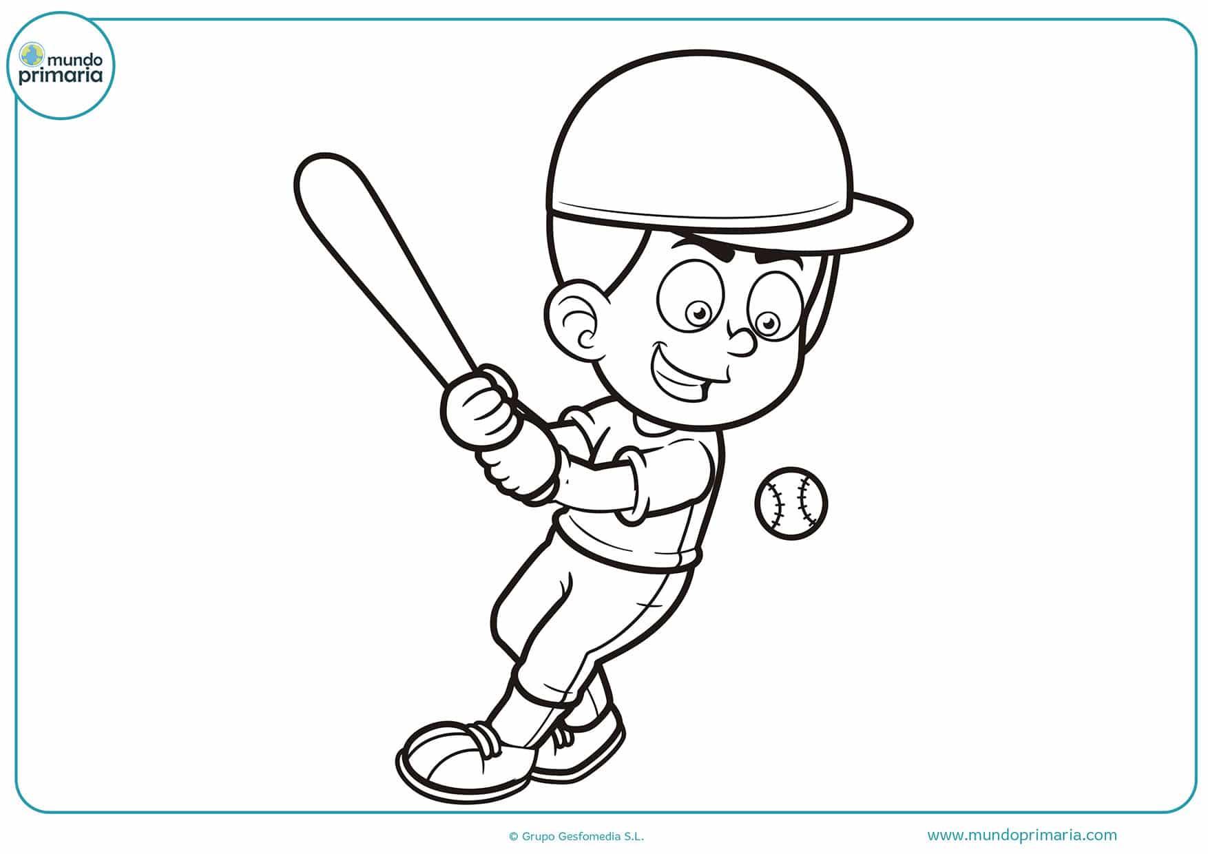 Dibujos beisbol colorear