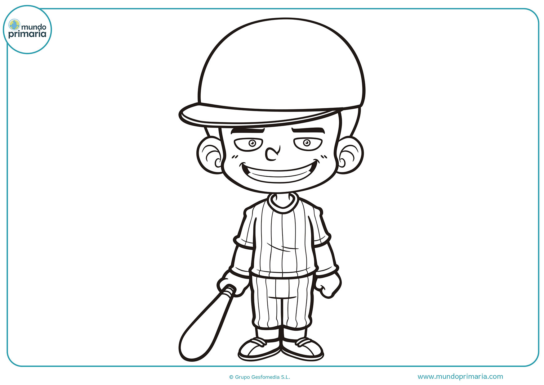 Dibujo beisbol para colorear e imprimir