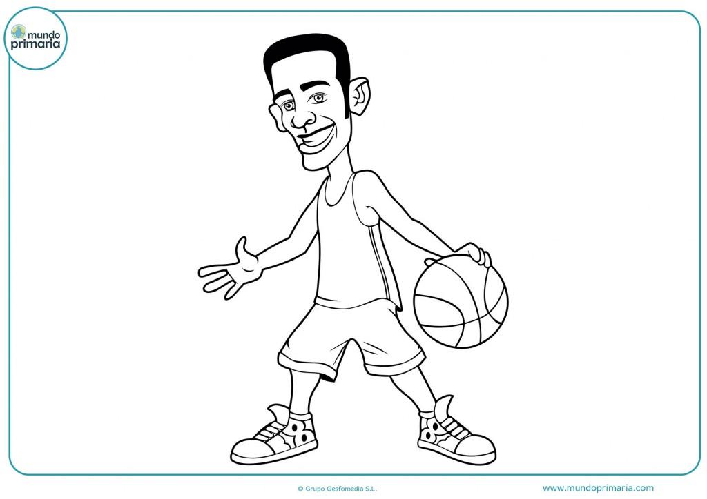 Colorea el balón de baloncesto con pintura