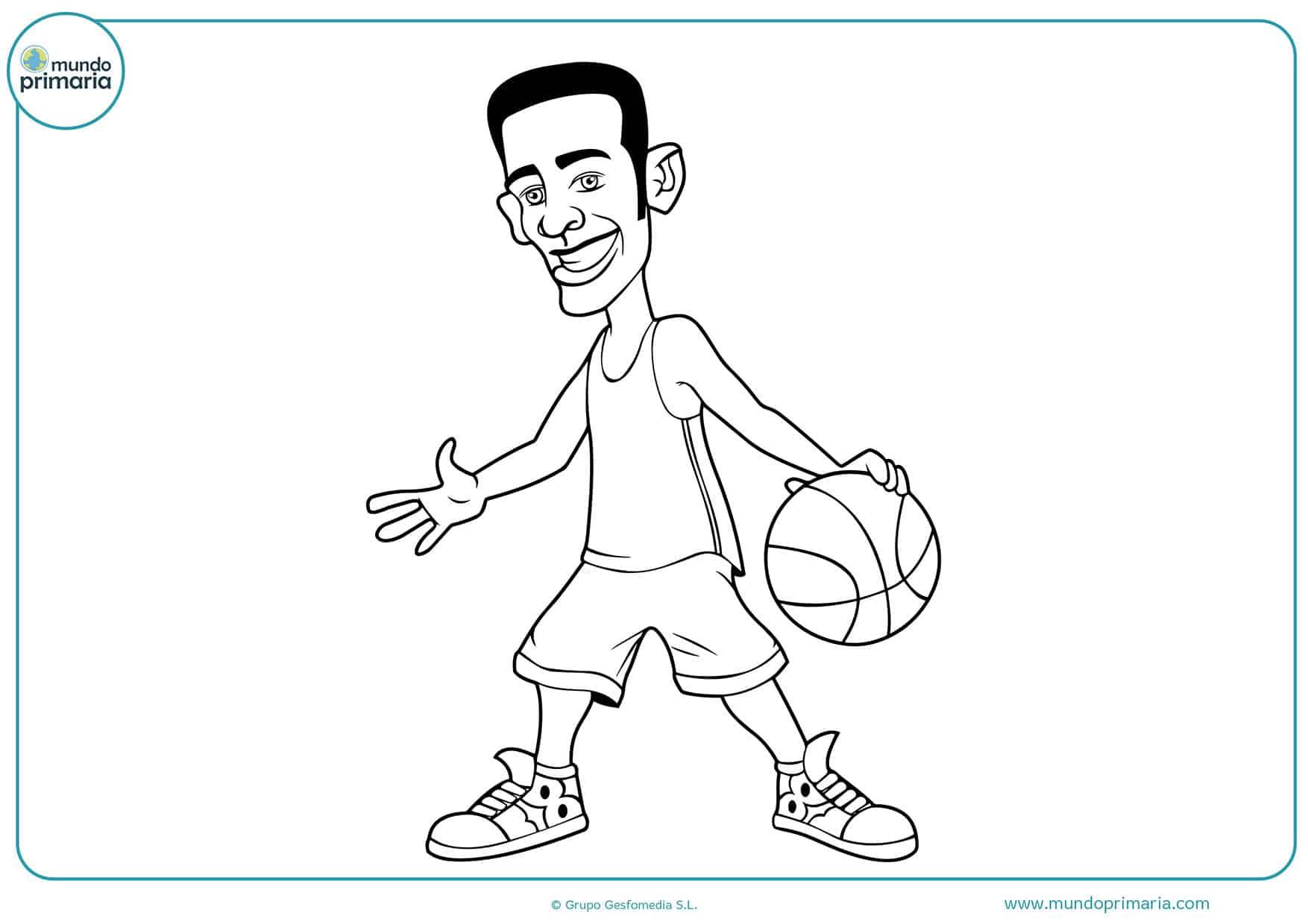 Dibujos baloncesto colorear