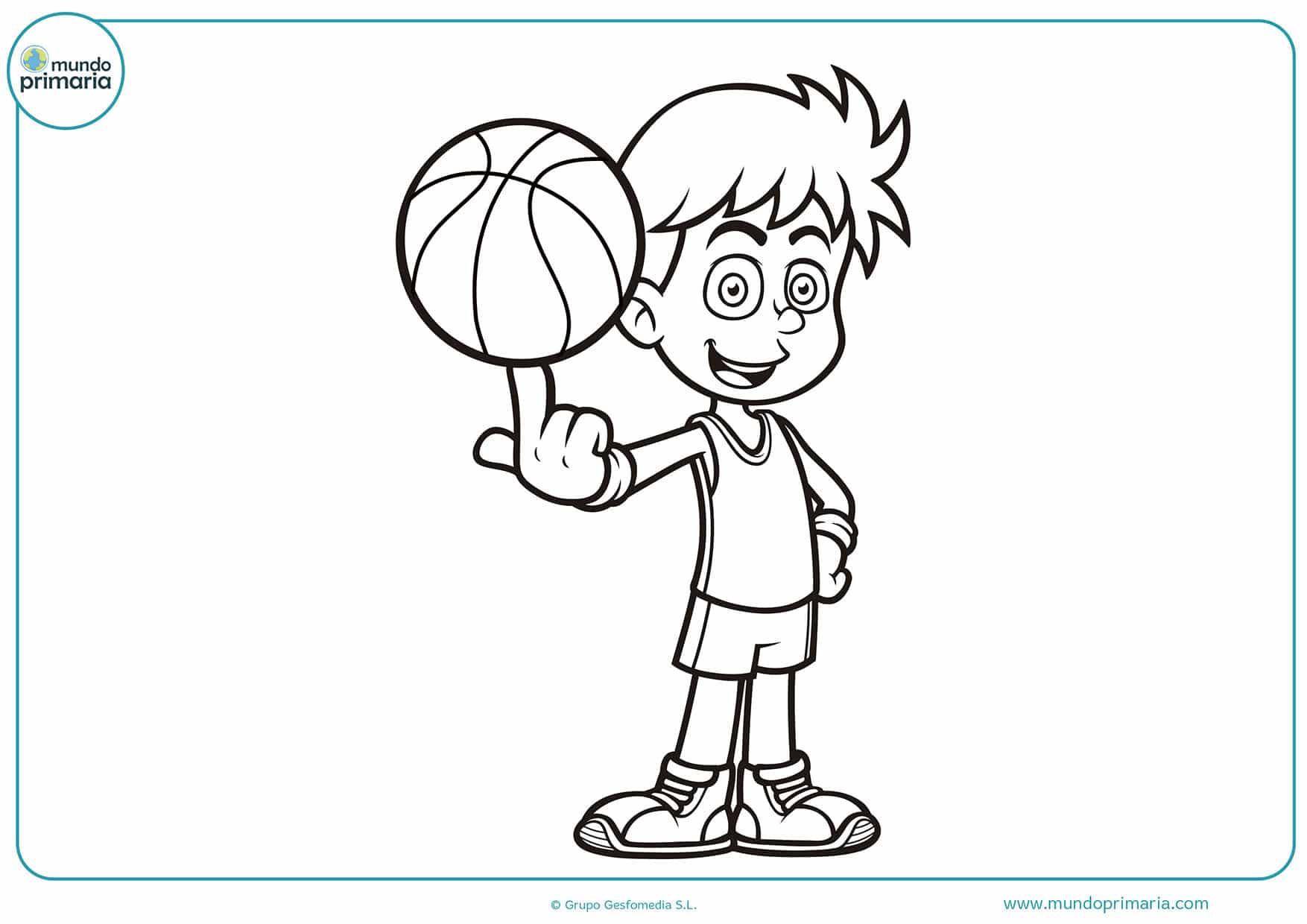 Pintar NiÑos Del Mundo: Dibujos De Baloncesto Para Colorear