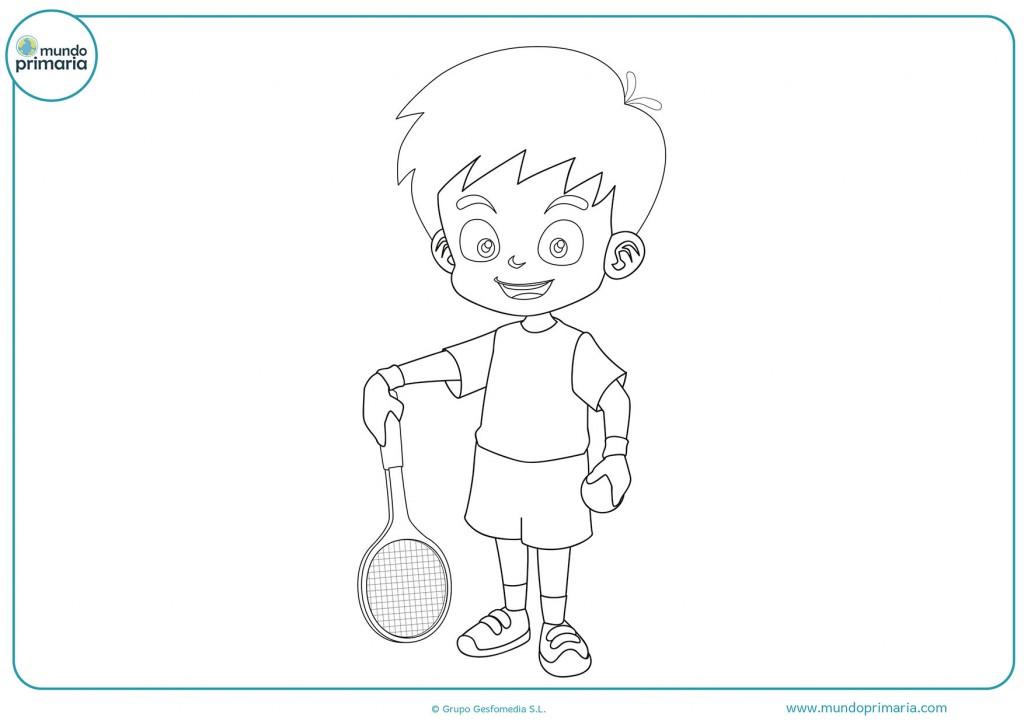 Imagen de un chico quieto con una raqueta para pintar