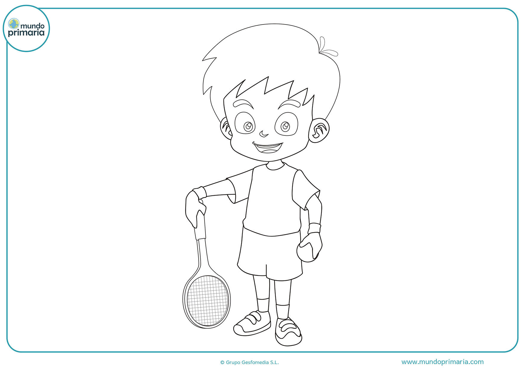 Dibujos tenis colorear