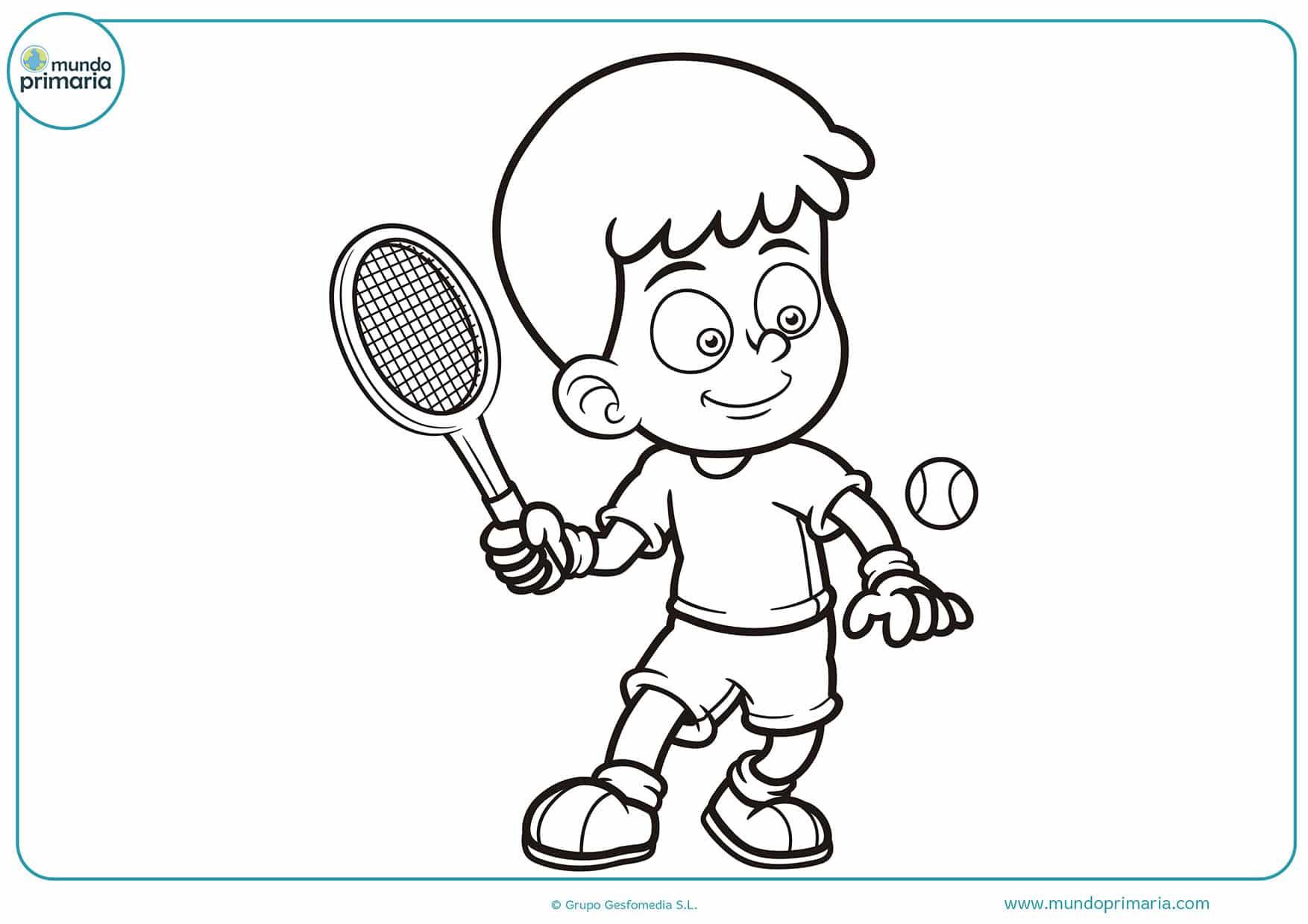 Dibujos colorear tenis para pintar