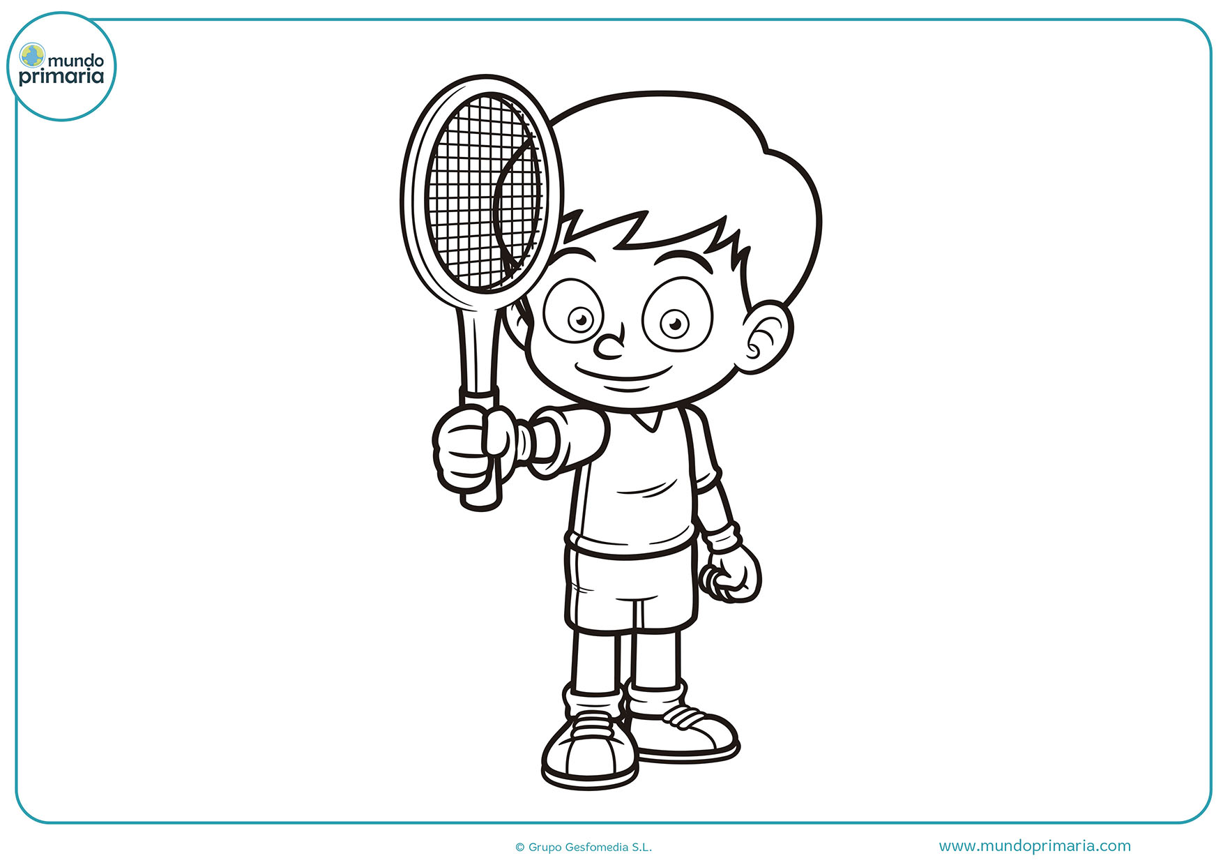 Dibujos colorear tenis