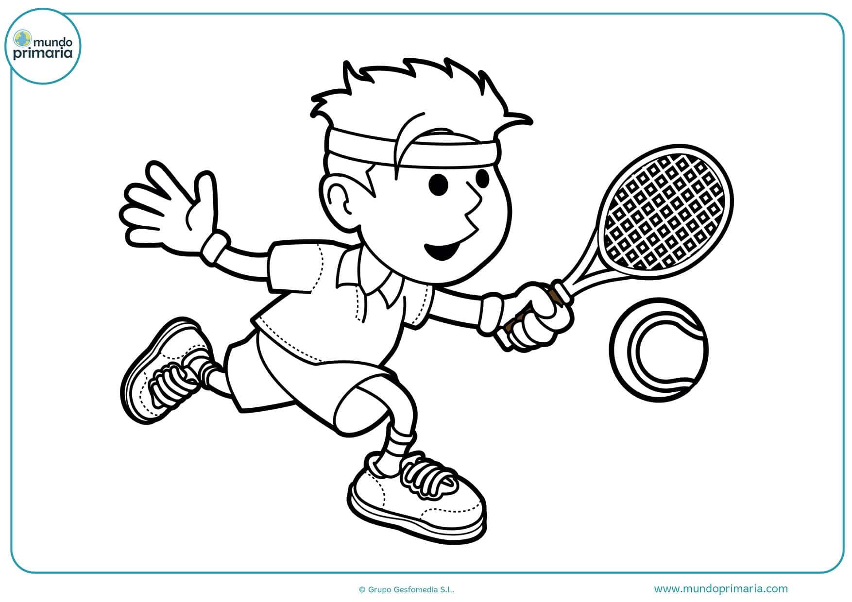 Niño Dibujo Para Colorear: Dibujos De Tenis Para Colorear
