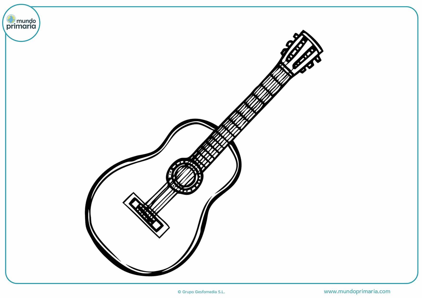 Imprimir dibujos instrumentos musicales