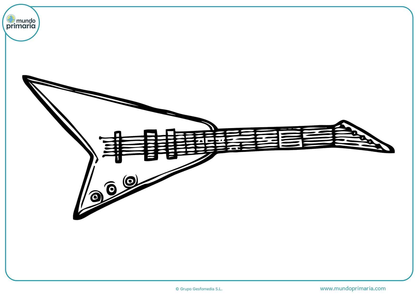 Colorear dibujo instrumentos musicales niñas pequeñas