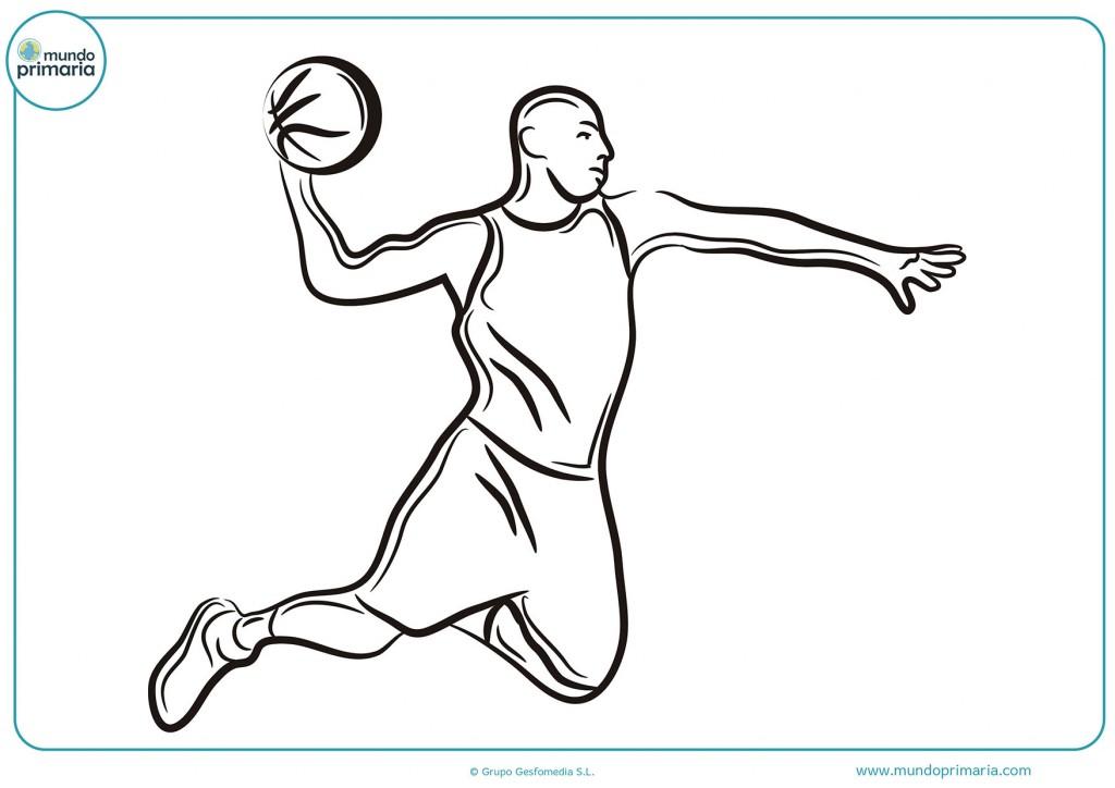 Colorea el dibujo de un jugador marcando para pintar