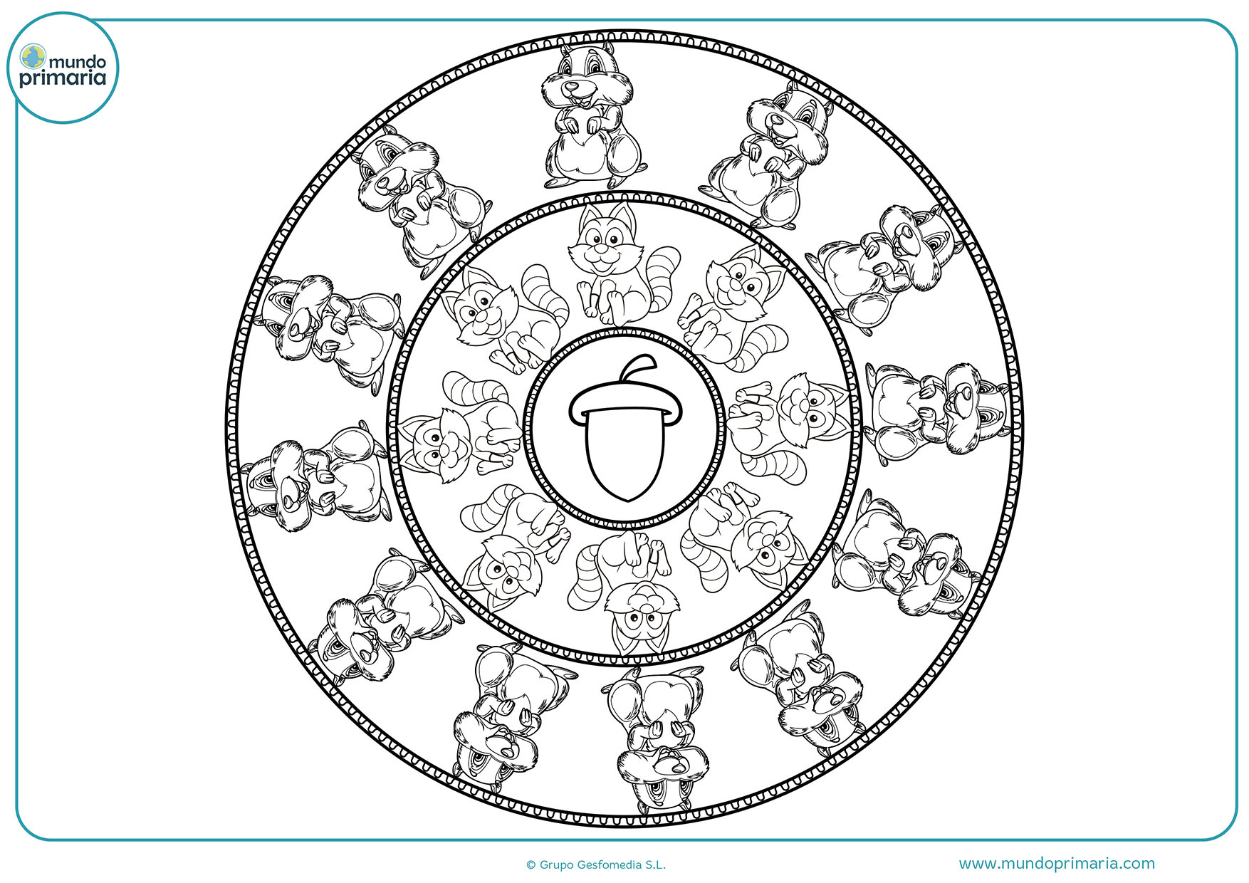 Dibujos De Mandalas Para Colorear Para Ninos