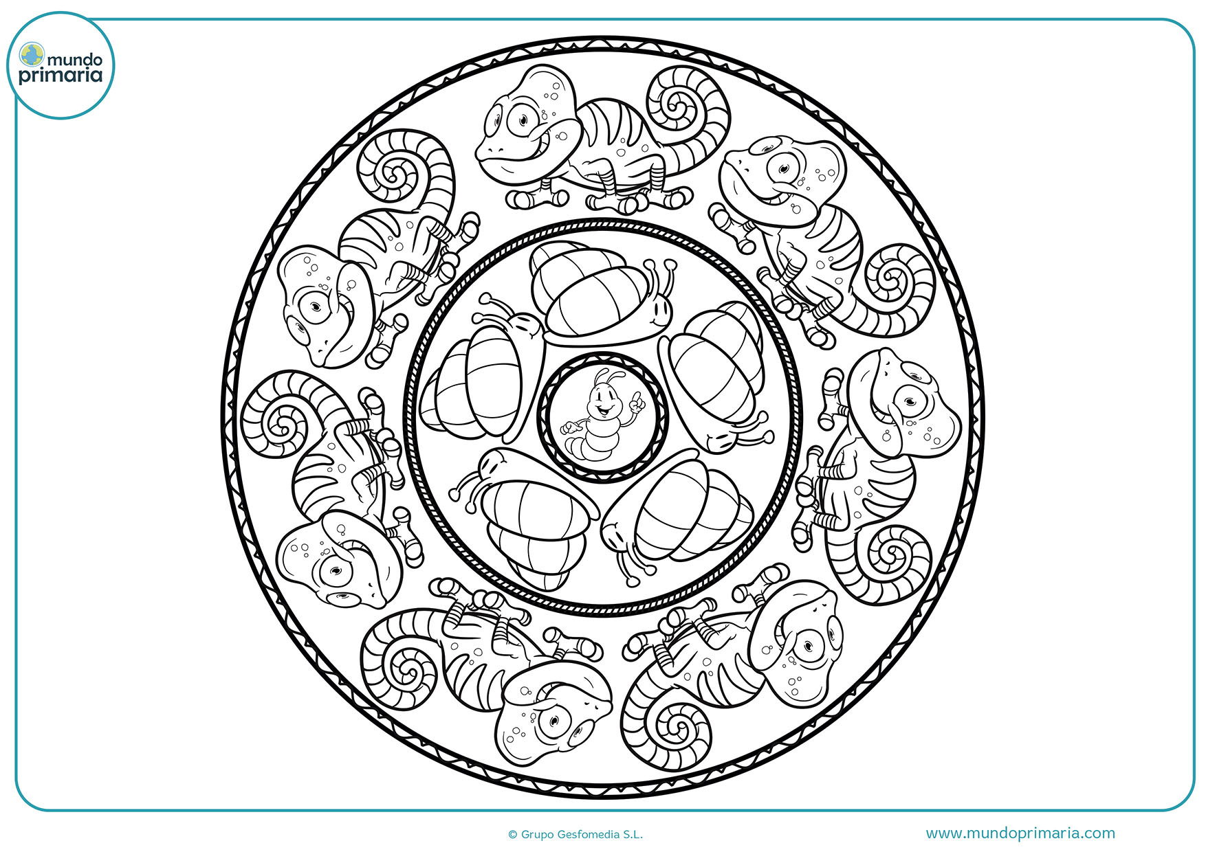 Mandalas Infantiles Para Colorear E Imprimir Dibujos Para