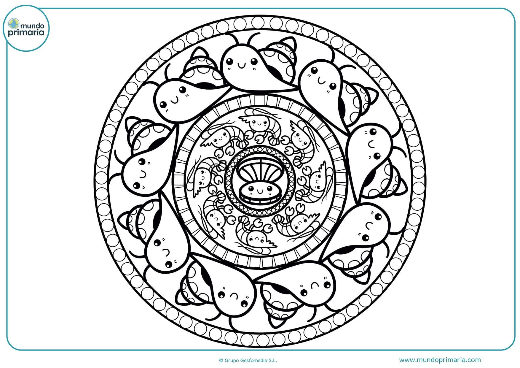 Colorear dibujos mandalas animales
