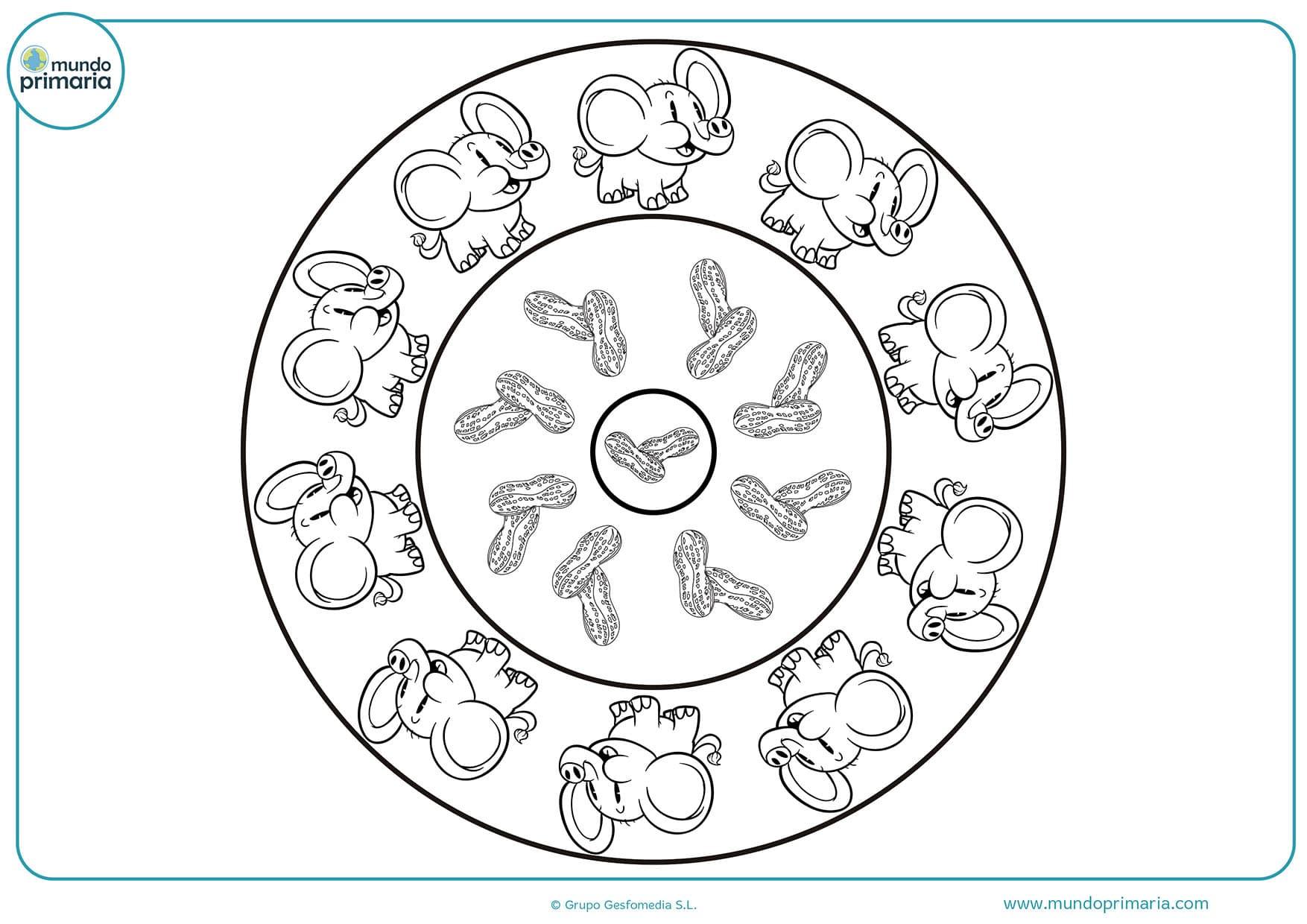 Dibujos mandalas animales colorear infantiles