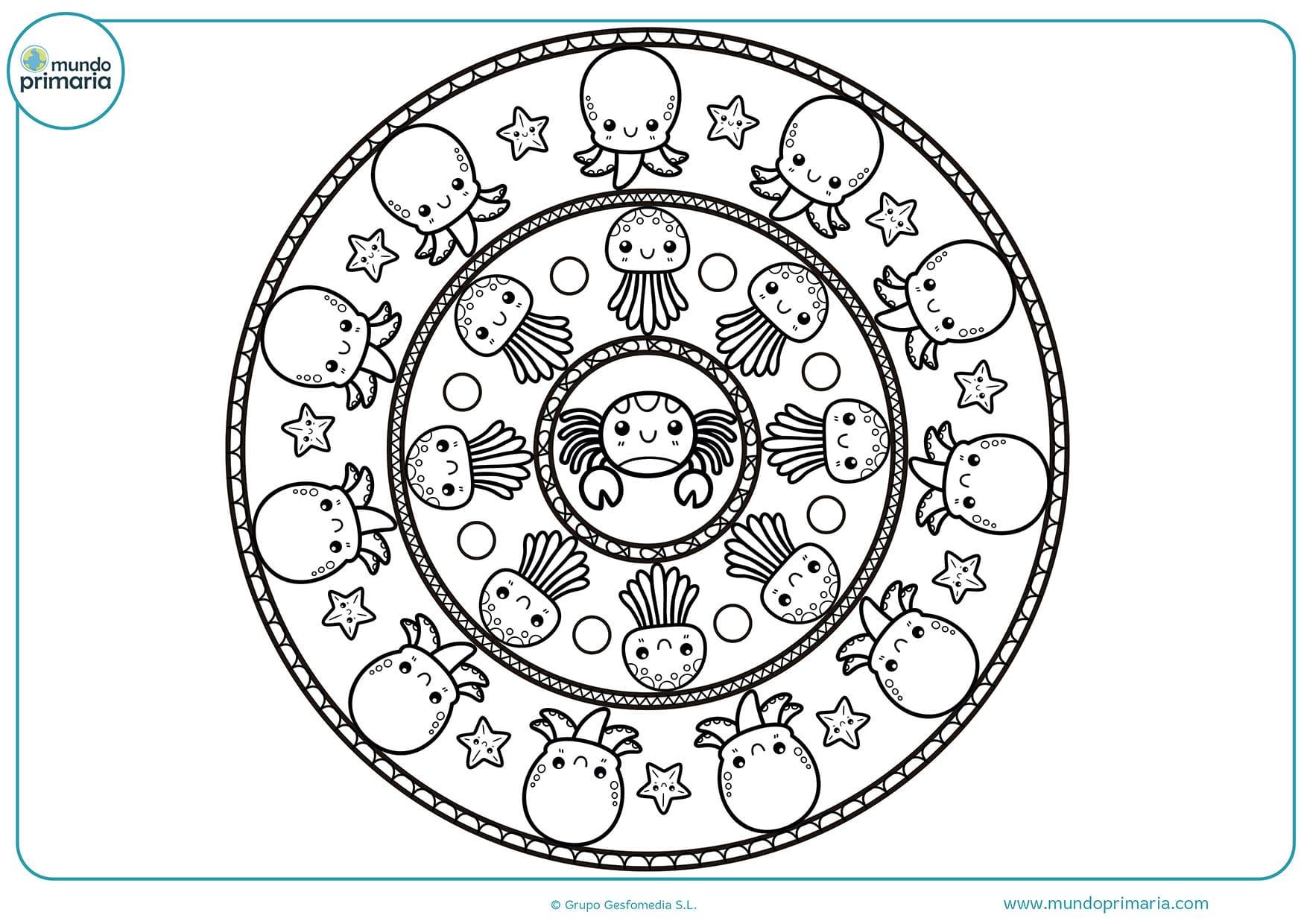 Dibujos de mandalas animales para dibujar