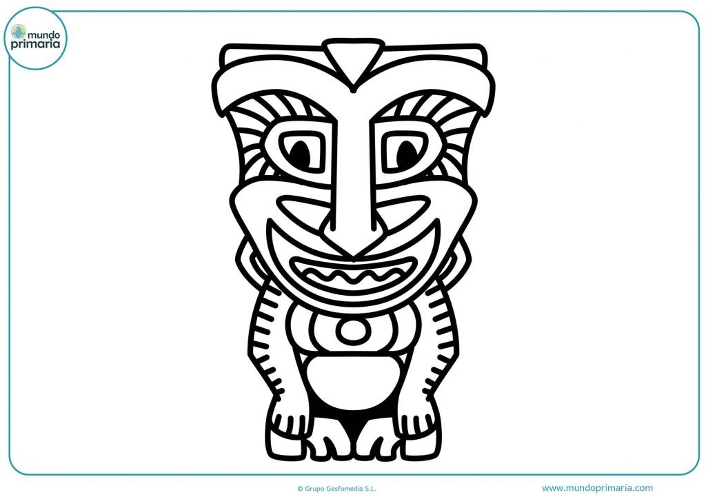 Dibujo de una máscara hecha en África para colorear