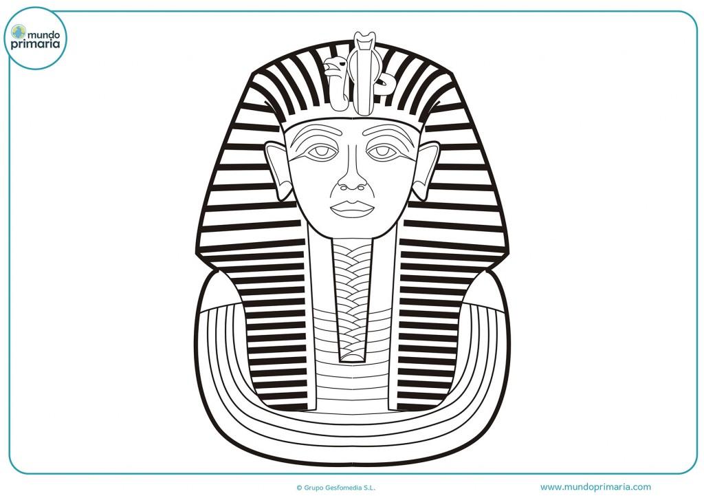 Dibujo de un sarcófago egipcio para colorear