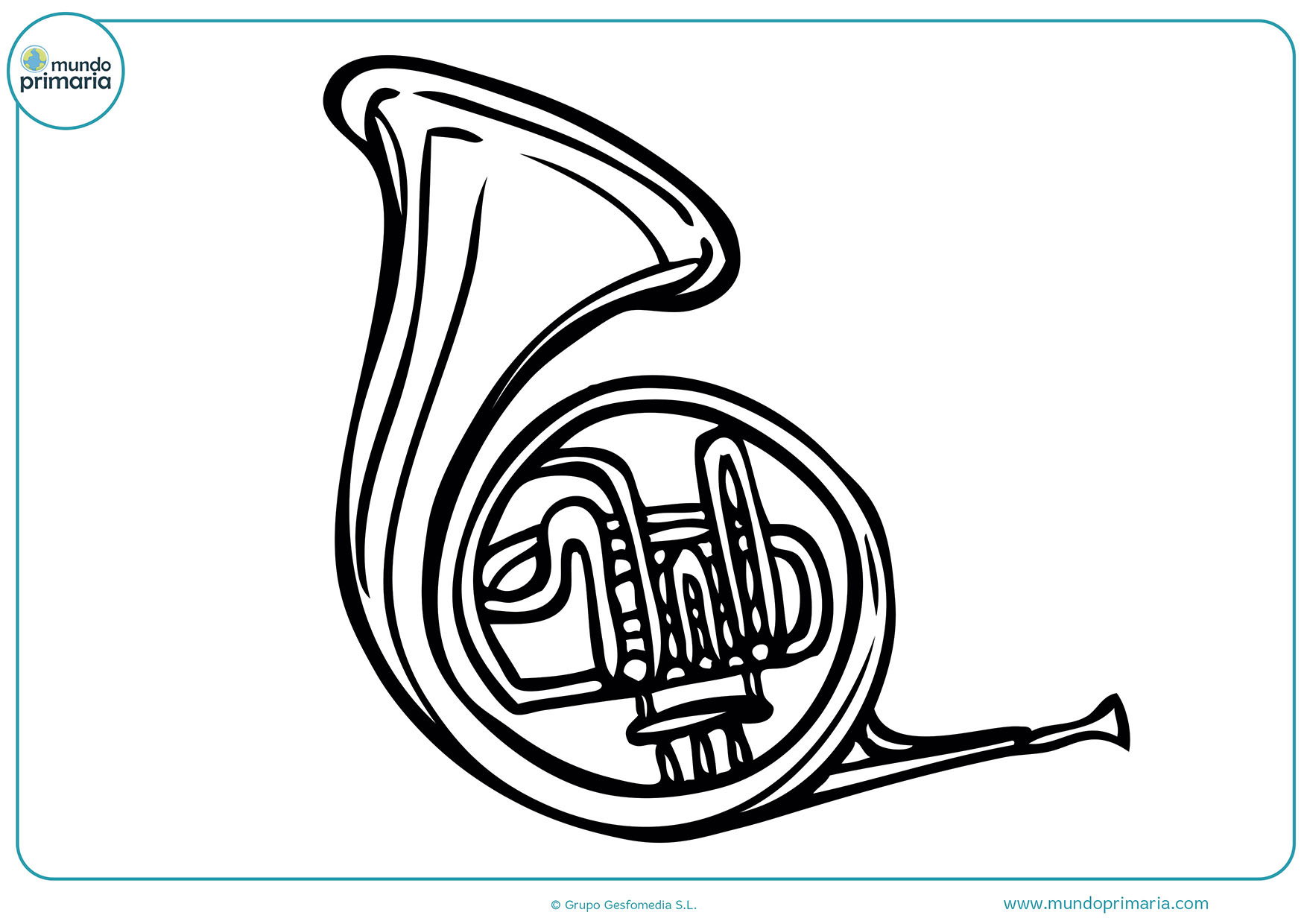 Dibujos fáciles colorear instrumentos musicales