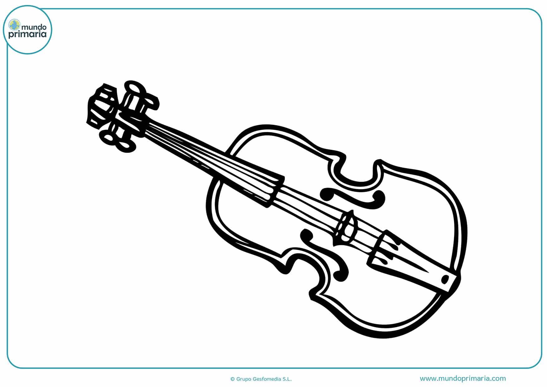 Dibujos gratis colorear instrumentos musicales