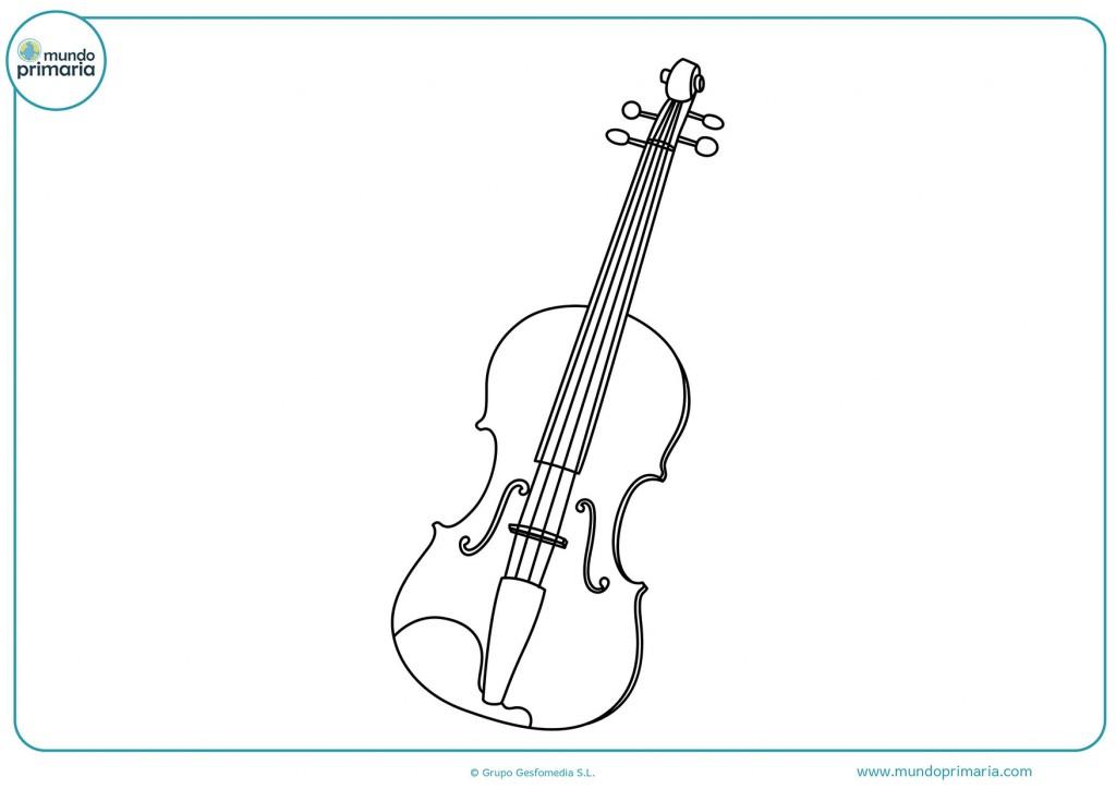 Dibujo de un violín nuevo para colorear