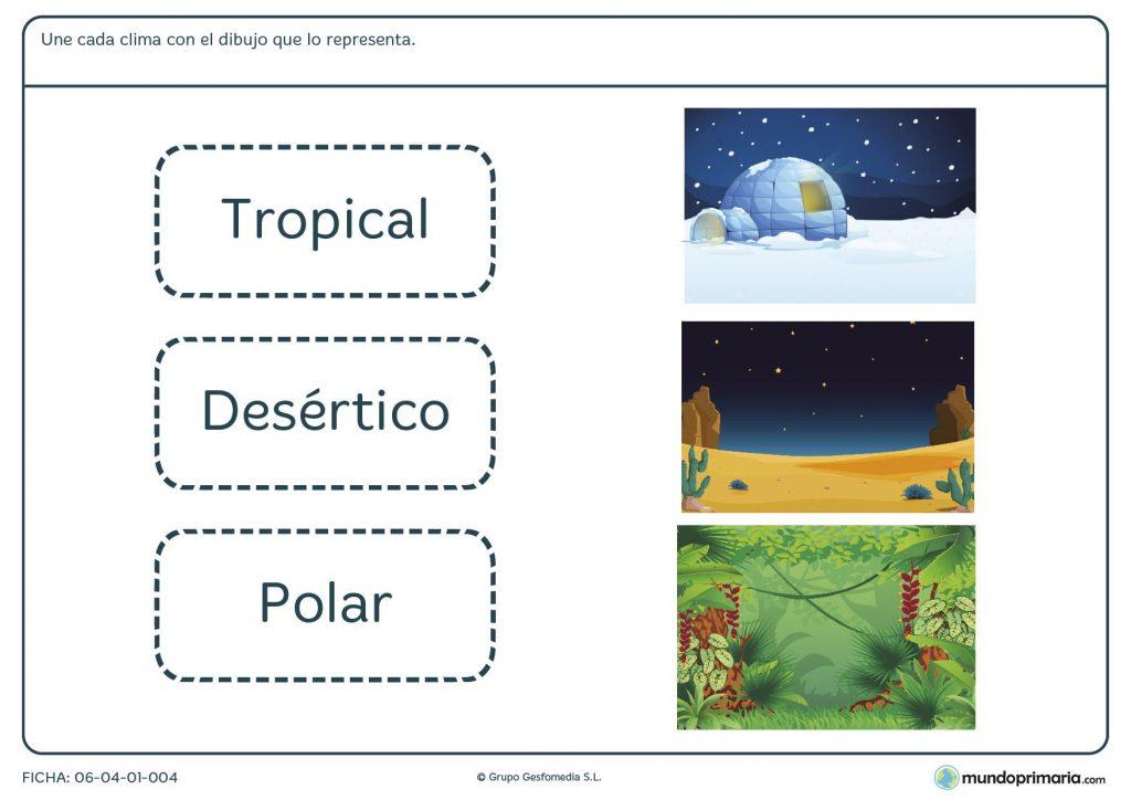 Ficha de clima y paisajes para primaria
