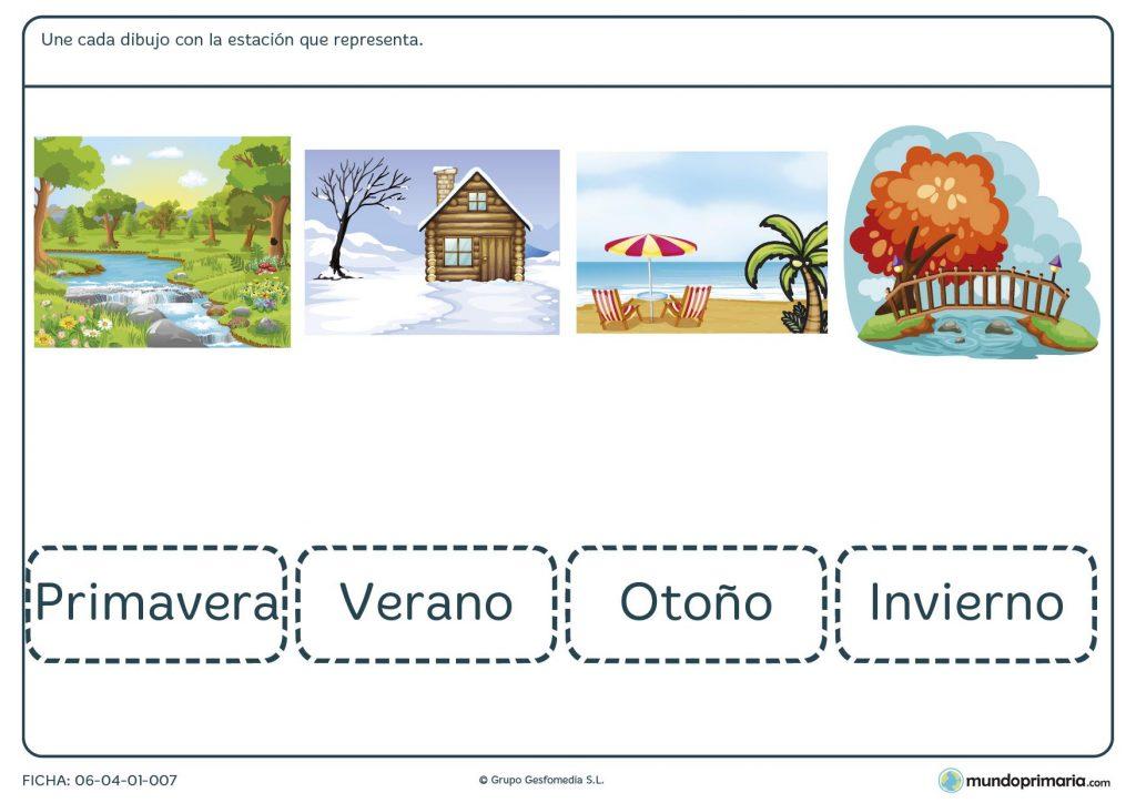 Ficha de las estaciones para primaria