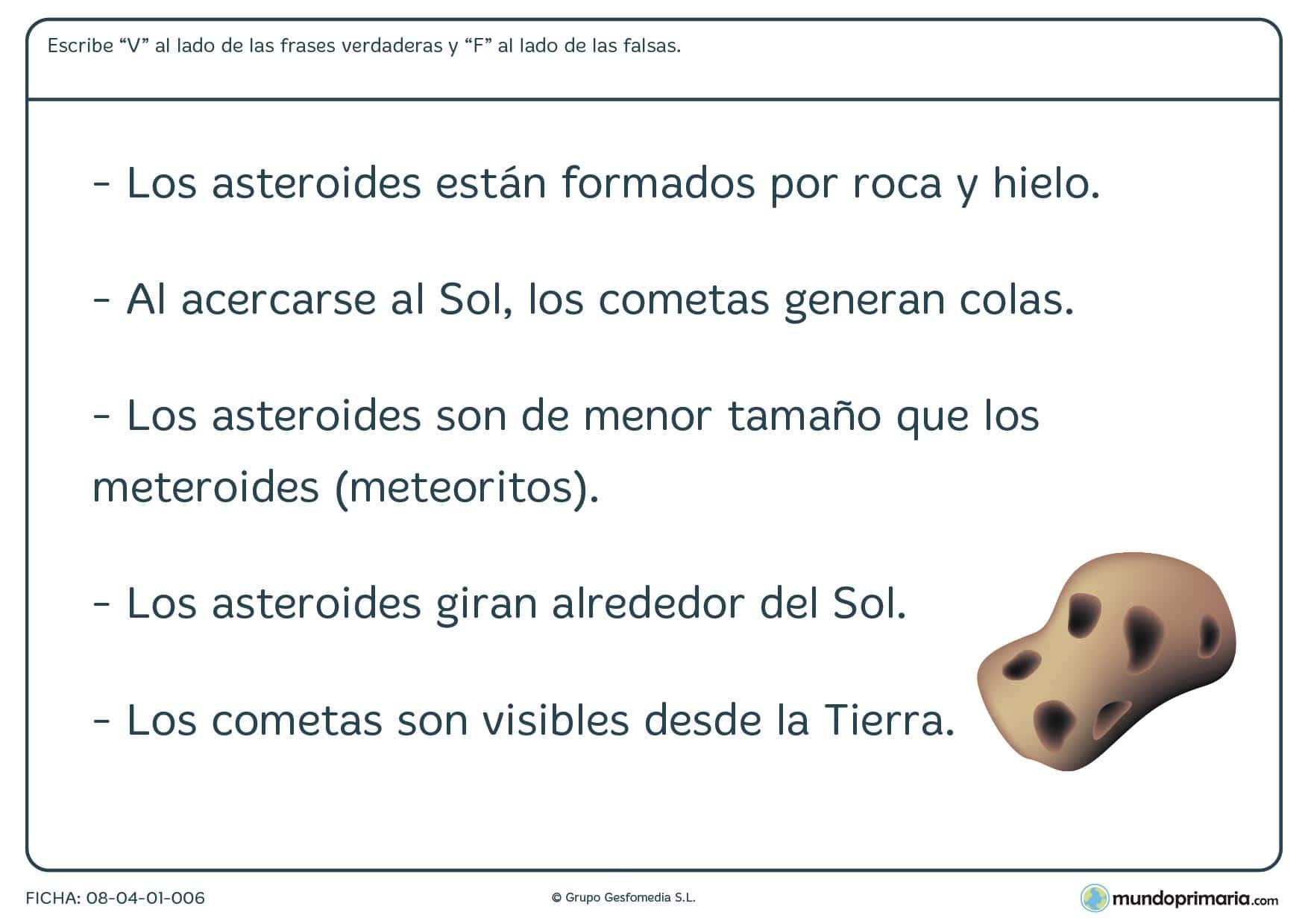 Ficha de estrellas espaciales para primaria