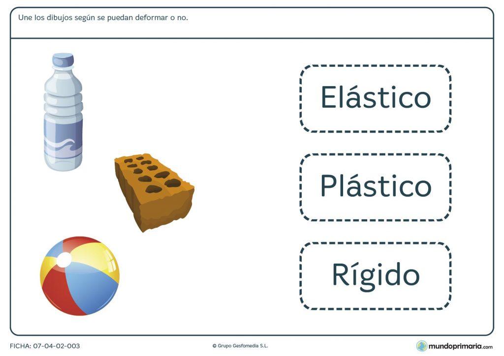 Ficha de materia y energía para primaria