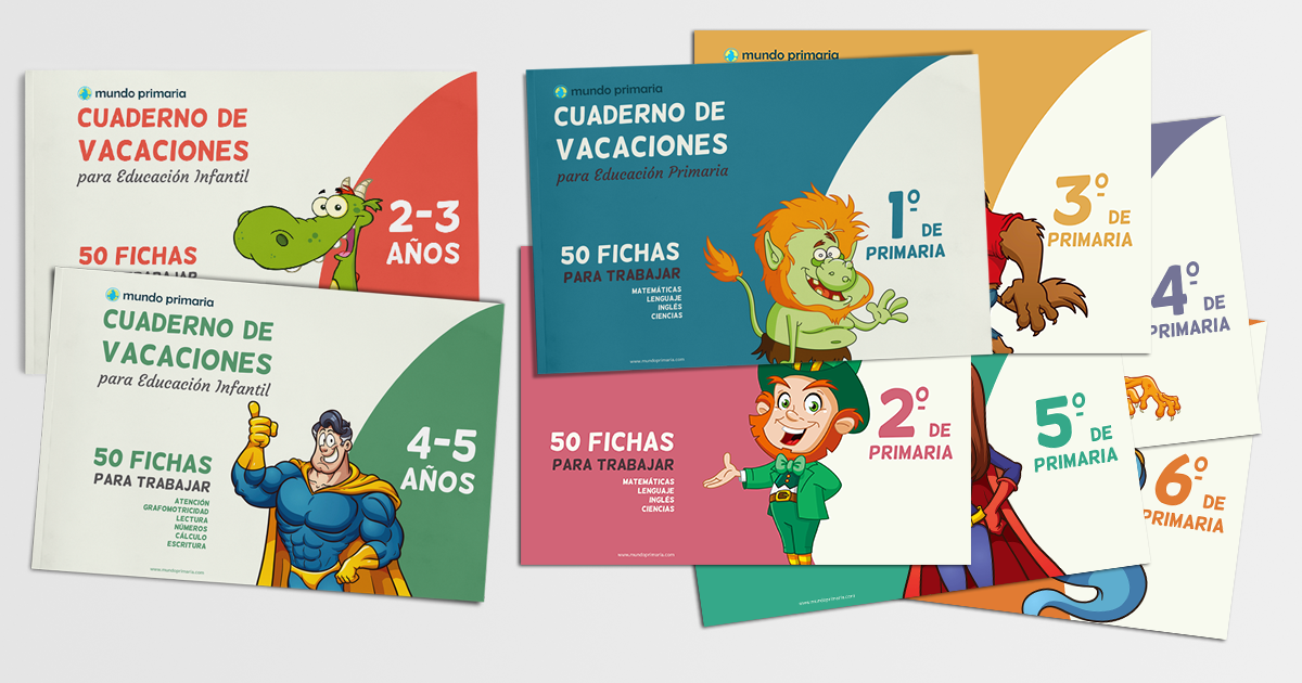 8 cuadernos de vacaciones para imprimir (Infantil y Primaria)