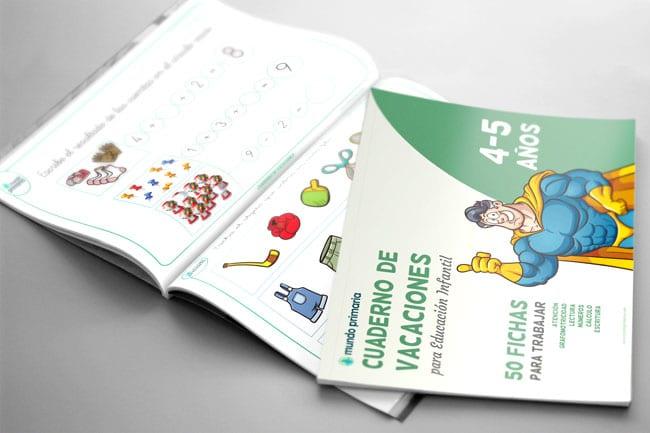 libro de vacaciones para niños de Infantil