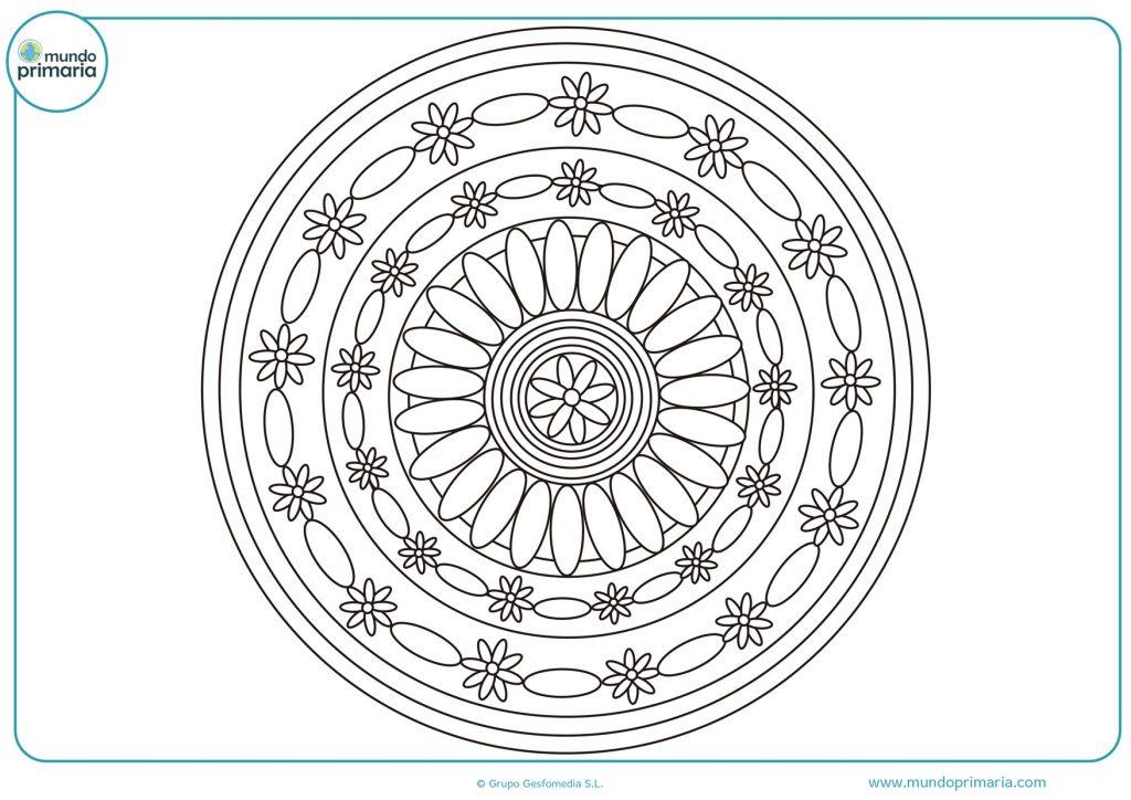 Mandala de óvalos y flores