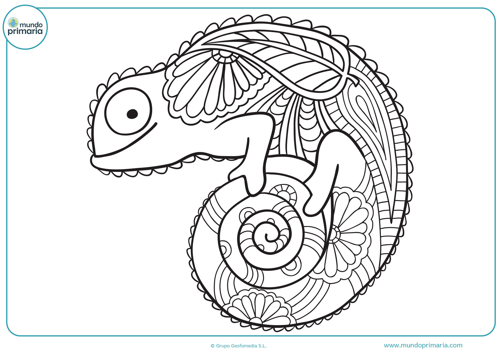 Imprimir Gratis Para Colorear Para Y Mandalas De Animales: Dibujo Mandala Colorear