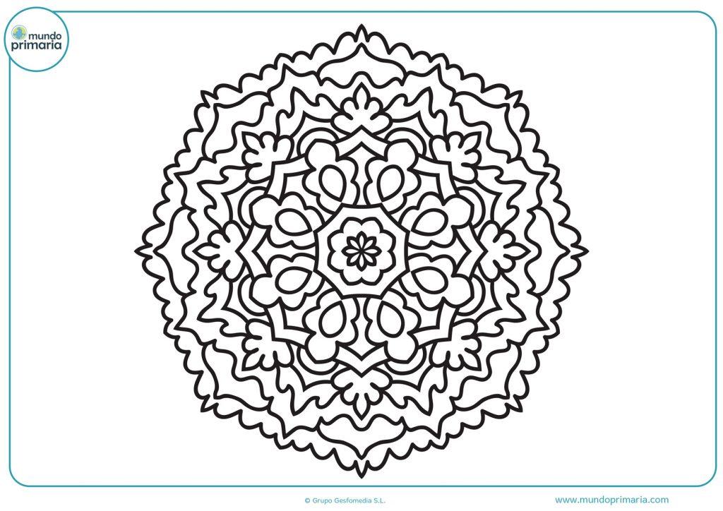 Mandala de flores y octógonos