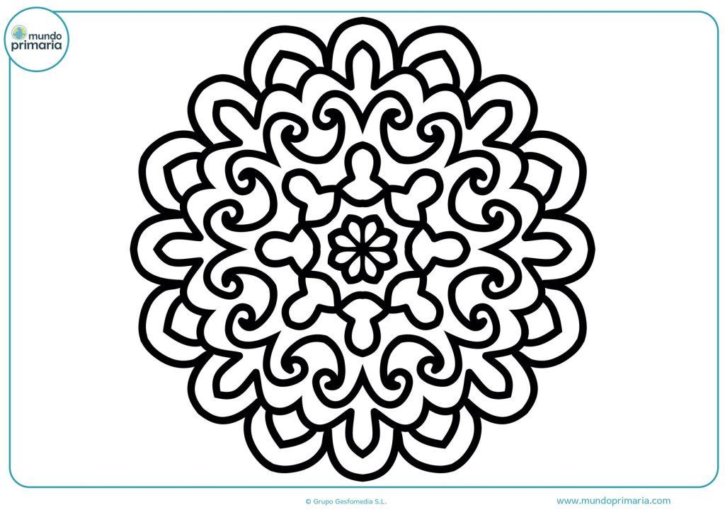 Mandala de olas y flores